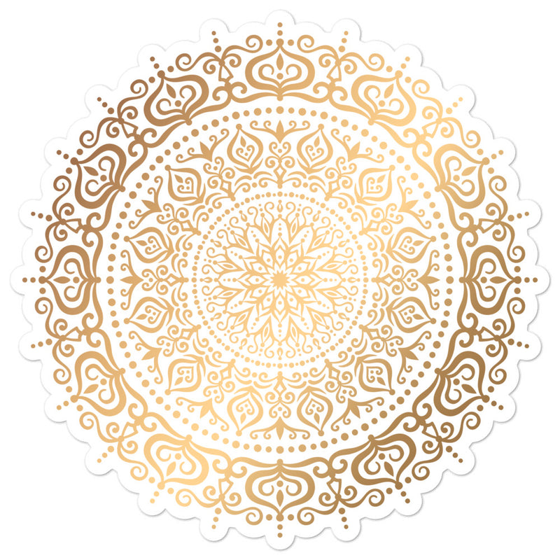 Golden Mandala 2 - Bubble-free stickers