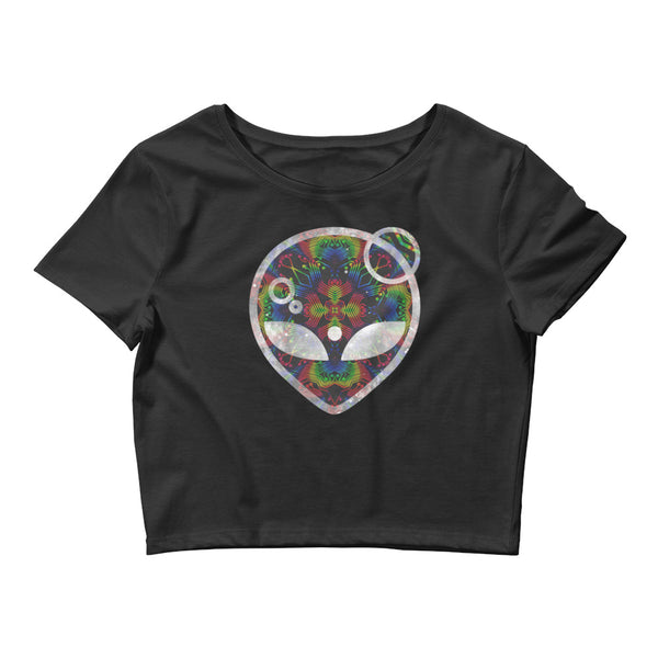 Rainbow Symbology Women's Crop Tee