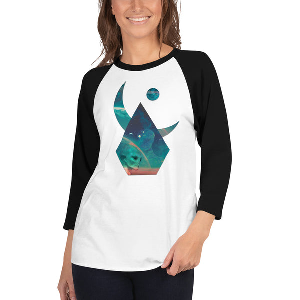 Lunar Interpolation - Women's 3/4 sleeve raglan shirt