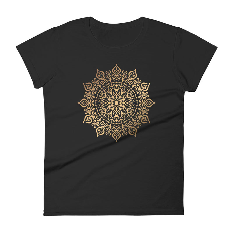 Fire Flower (Golden Mandala) - Women's short sleeve t-shirt