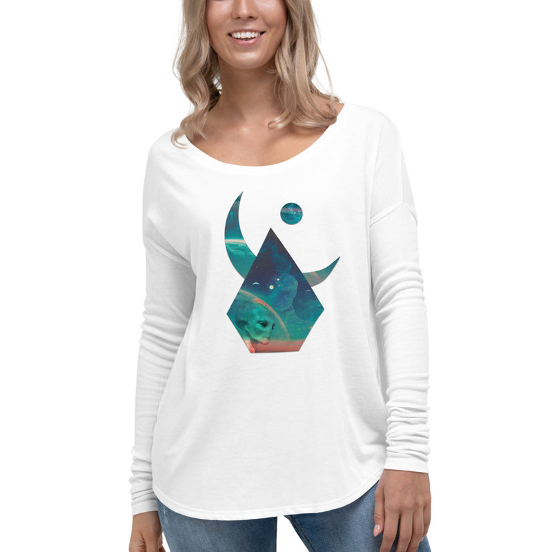 Lunar Interpolation - Ladies' Long Sleeve Tee