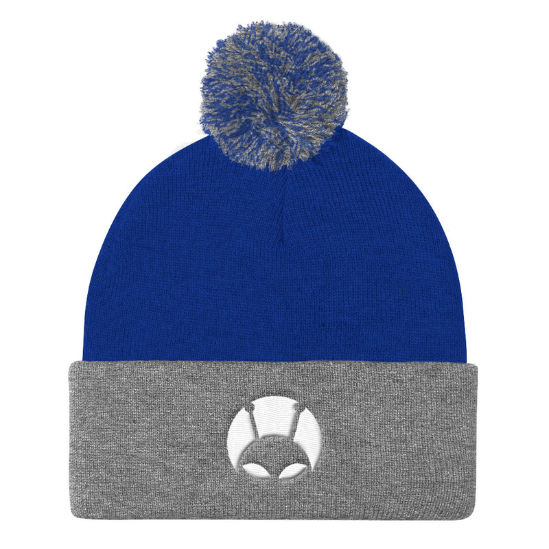 Alien Clothing - Peekaboo Alien Beanie - Pom Pom Knit Cap - Alien Symbology