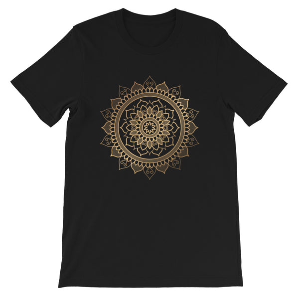 Floral Unfolding (Golden Mandala) - Short-Sleeve Unisex T-Shirt