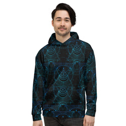 InterPlanetary Geometry Unisex  All Over Print Hoodie