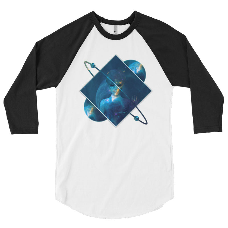 Orbital Transducer (Blue) - 3/4 sleeve raglan shirt