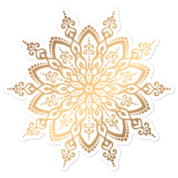 Golden Mandala 3 - Bubble-free stickers