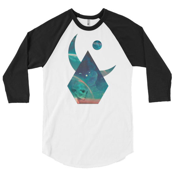 Lunar Interpolation - 3/4 sleeve raglan shirt