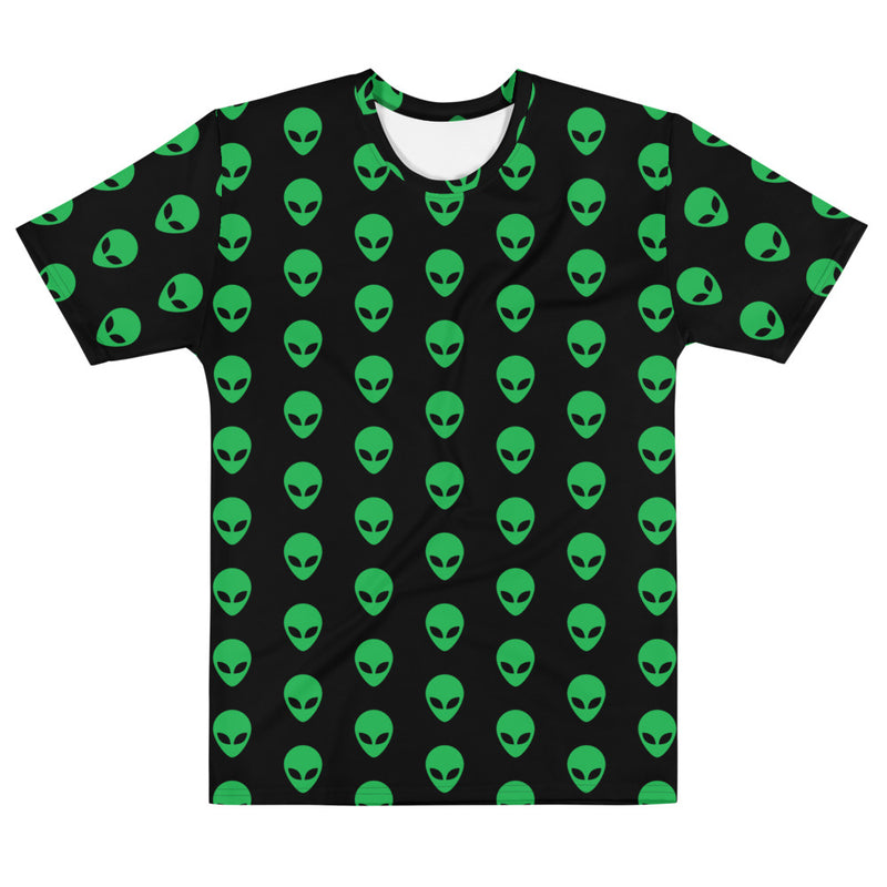 Green Alien All Over Men's T-shirt
