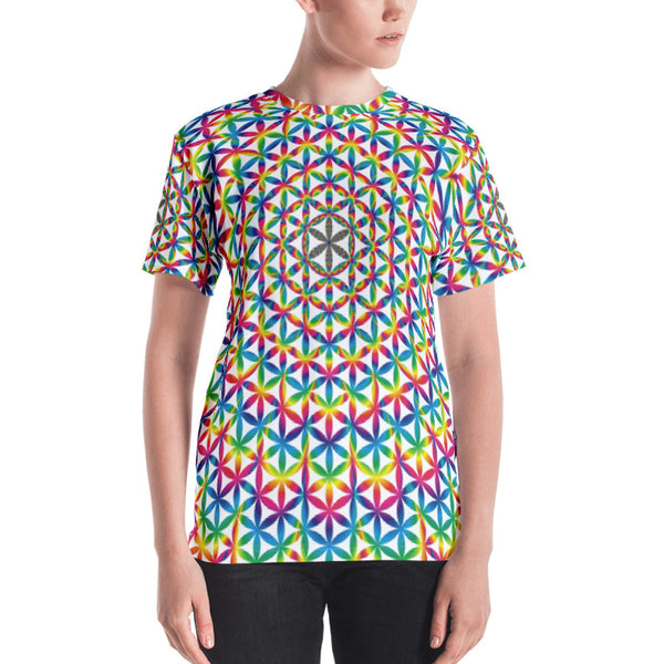Rainbow Flower Of Life Women's T-shirt