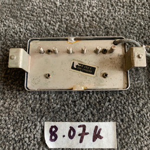 1960s Gibson Patent Number Sticker PAF Pickup Set Chrome