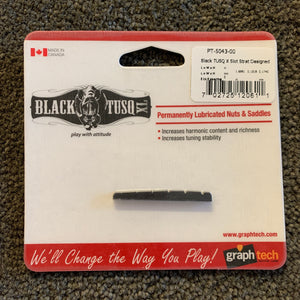 Graphtech Black TUSQ XL Strat Style Slotted Nut - Curved