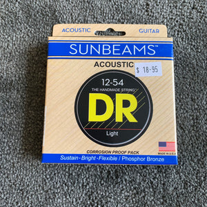 DR Acoustic Guitar Strings - SUNBEAMS 12-54 & 13-56