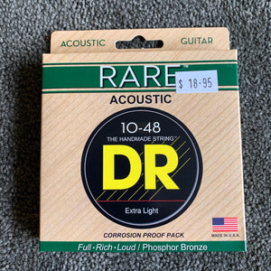 DR Acoustic Guitar Strings - RARE 10/48 & 11/50