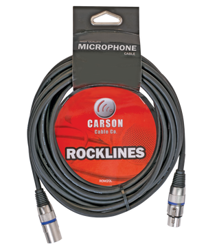 Carson Rocklines Microphone Cables.