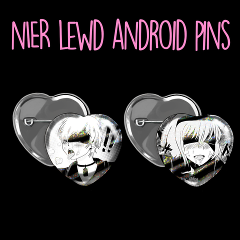 Nier Lewd Android Pins