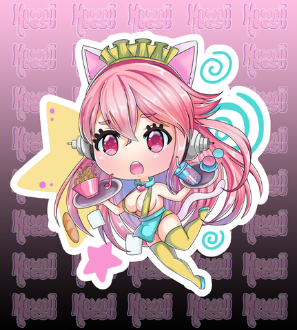 Super Clumsy Sonico Sticker