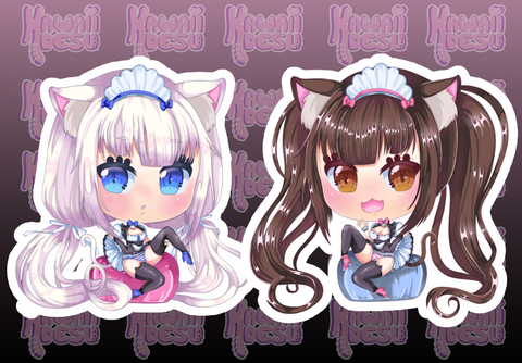 Chocola Vanilla Sticker Set