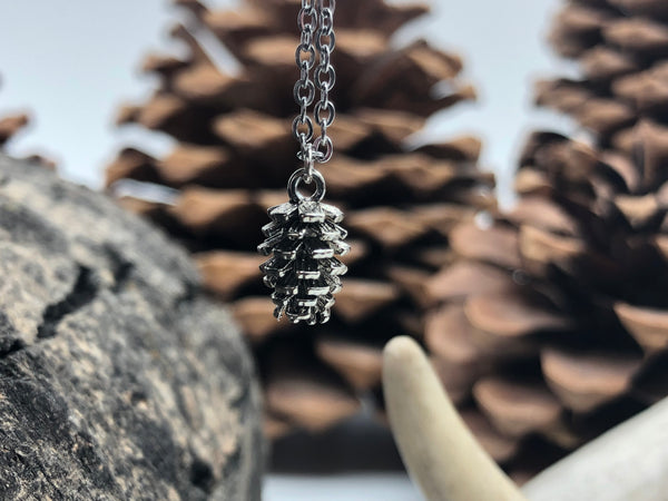 Dainty Pinecone Necklace  (3 Colors Available)