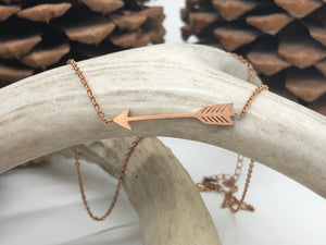 Cute Arrow Necklace - Gold