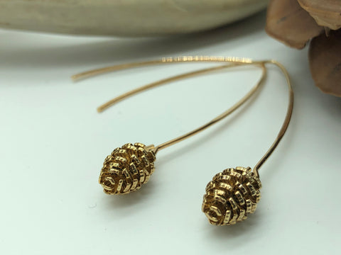 Pinecone Drop Earrings (2 Colors Available)