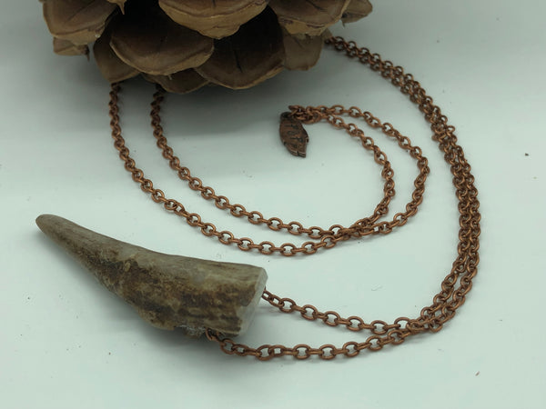 Rugged Antler Tip Necklace