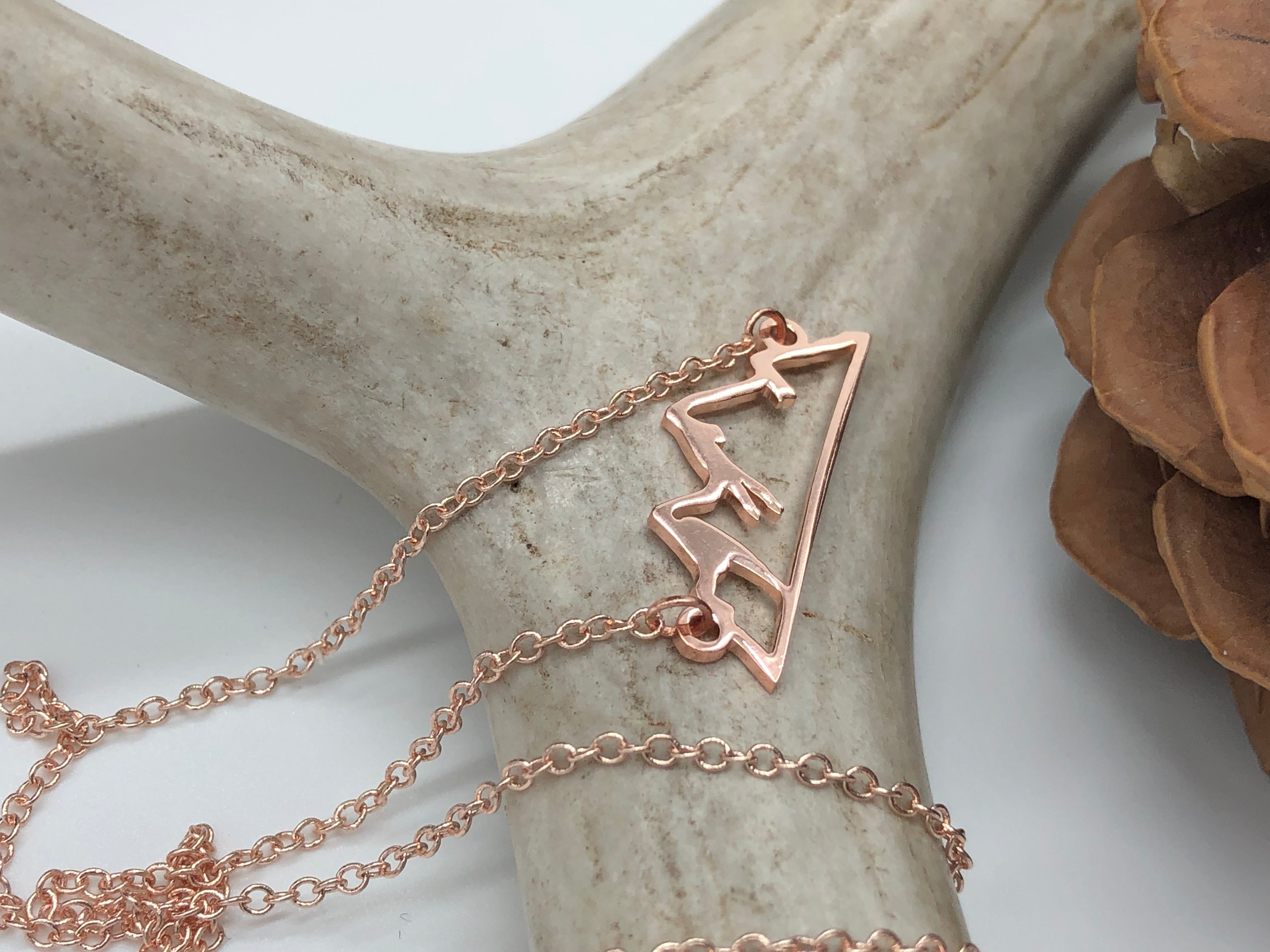 Silhouette Mountain Necklace - Rose Gold