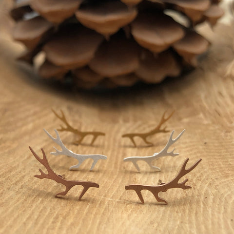 Antler Studs (3 Colors Available)