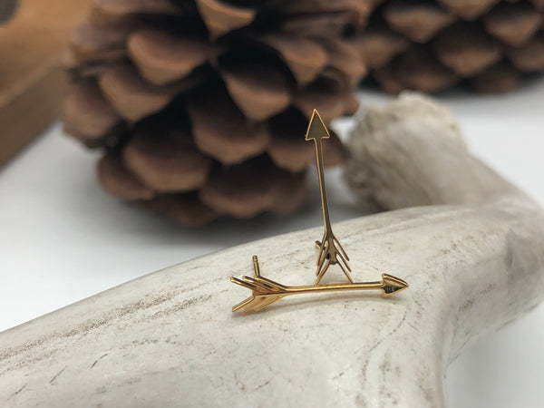 Arrow Studs - Gold