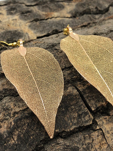 Real Leaf Earrings (3 Colors Available)