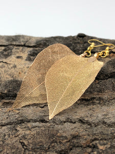 Real Leaf Earrings (2 Colors Available)