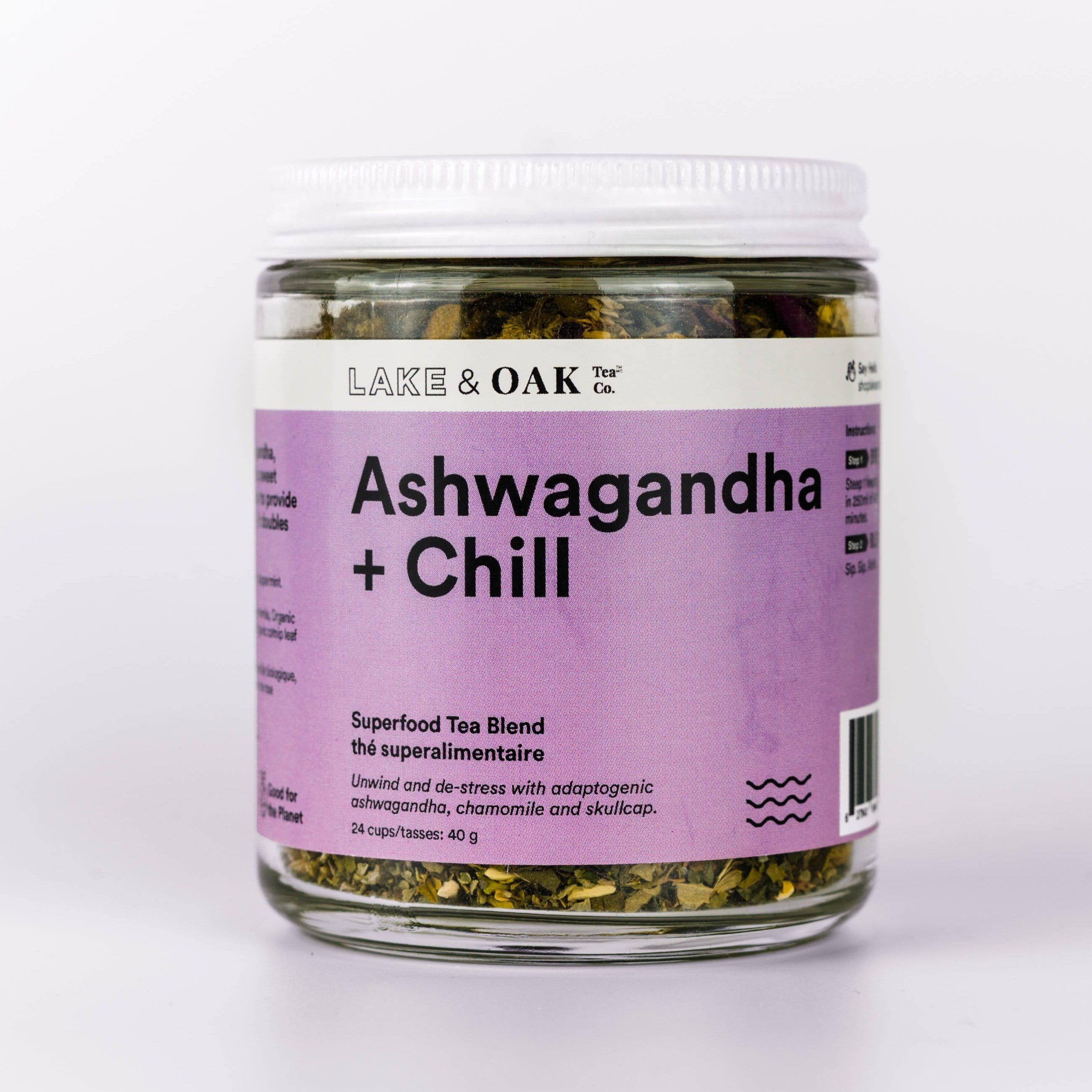 Lake & Oak Tea Ashwagandha + Chill