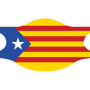 Creamask, Masque alternatif protection grand public, Région Catalogne, Drapeau catalan, L'Estelada, Drapeau indépendantiste