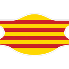 Charger l'image dans la galerie, Creamask, Masque alternatif protection grand public, Région Catalogne, Drapeau catalan, La Senyera