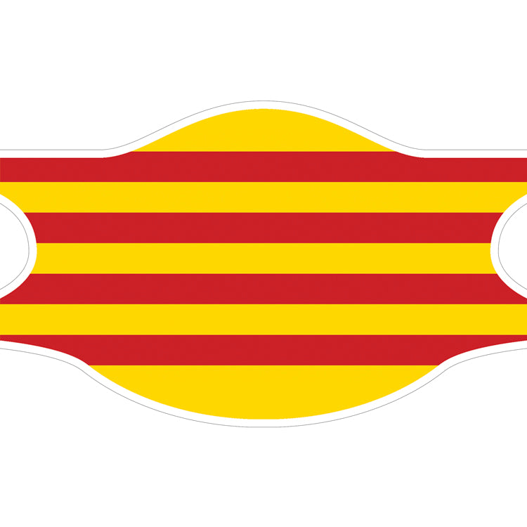 Creamask, Masque alternatif protection grand public, Région Catalogne, Drapeau catalan, La Senyera