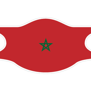Creamask, Masque alternatif protection grand public, Drapeau Maroc