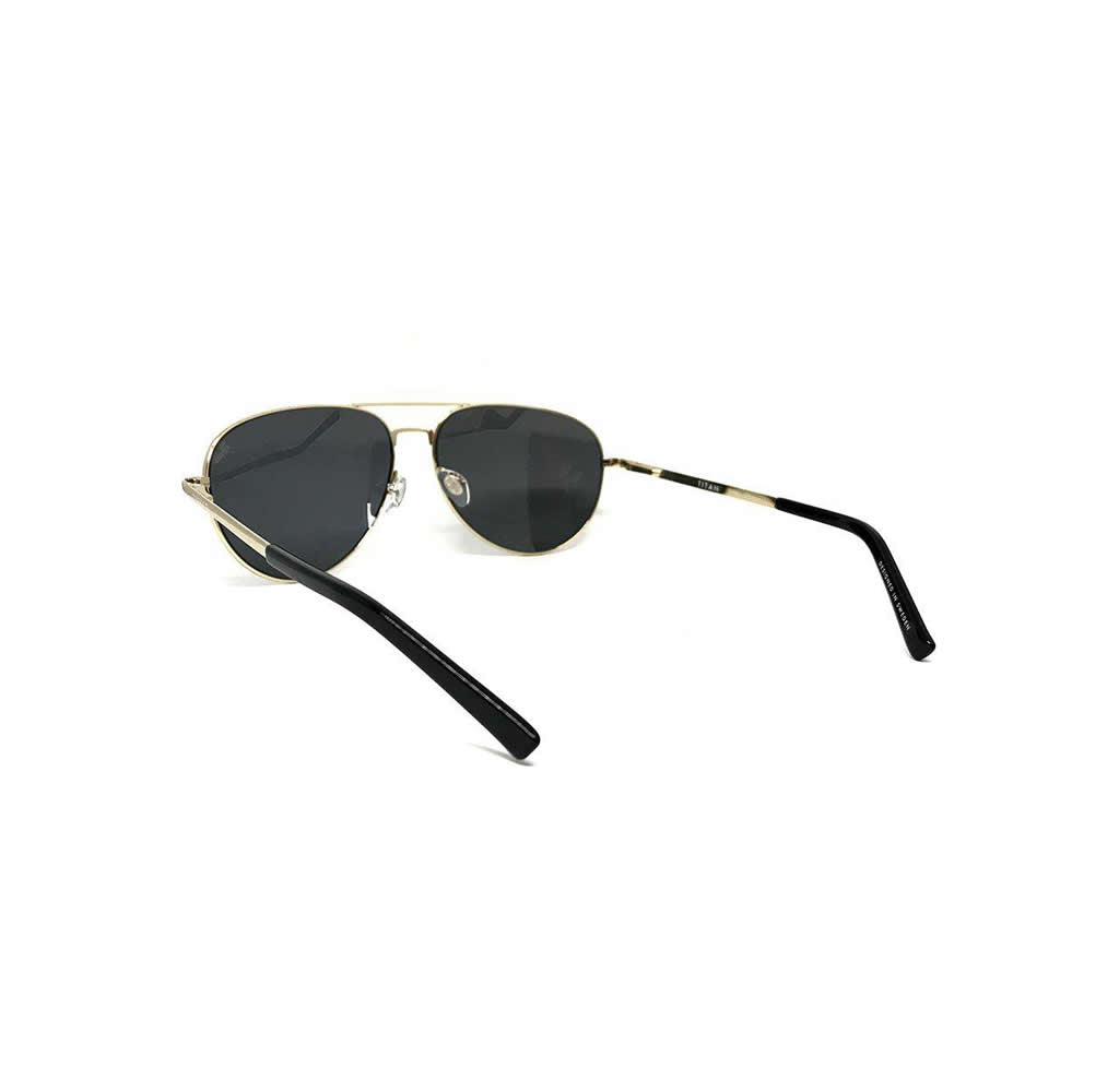 Titanium Aviator Sunglasses - Gold