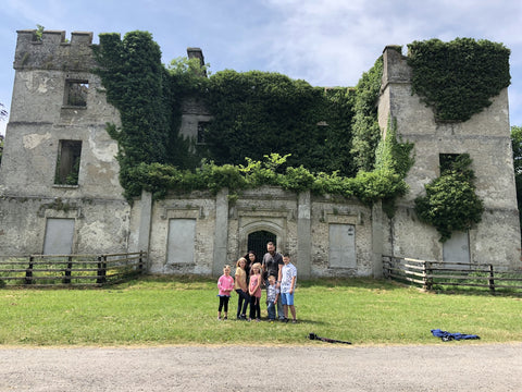 ivy covered castle ruins