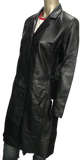 Knee Length (3/4) Classic Leather Jackets Coat Patsy S061