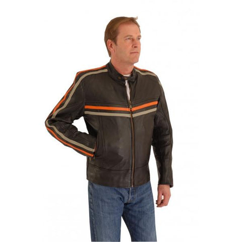 CRUISER SPORTS MOTOTER CYCLE LEATHER JACKET TT 171