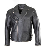 Classic leather patrol jacket for rocks and bikers 101