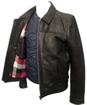Classic blouson jacket in dark brown skipper leather 1124