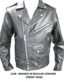 Classic Brando biker (Perfecto Leather jacket in milled cowhide 113R