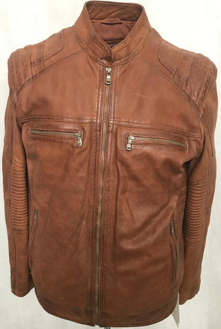 BLOUSON SHEEP NAPPA LEATHER JAKETS SNUFF CALTEL 1167