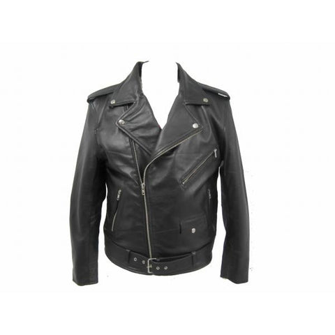 Classic Brando biker Leather Jacket (Sheep Nappa) 113NA