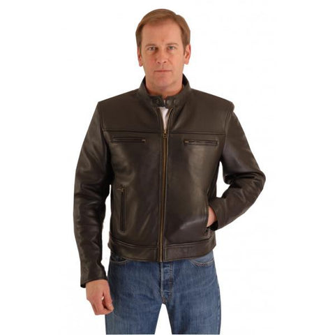 Blouson Cruiser Biker Cowhide Leather Jacket Vespa 164