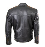 CRUISER SPORTS MOTOTER CYCLE LEATHER JACKET - TT 171