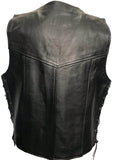 Leather Side Lace Wastcoat (Regular Cow Hide) Fresco 202R