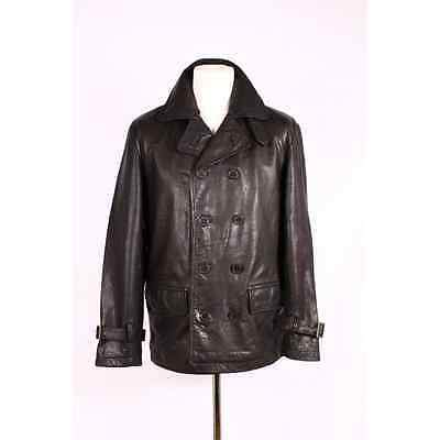 Leather Jacket 3/4 Pea Coat 3003