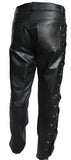 Lace Sided Leather Jean Biker Fashion Cruiser Classic Out-Law (305)