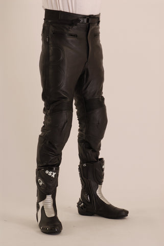 Motorcycle Leather Jean with Protective Features Racer 309